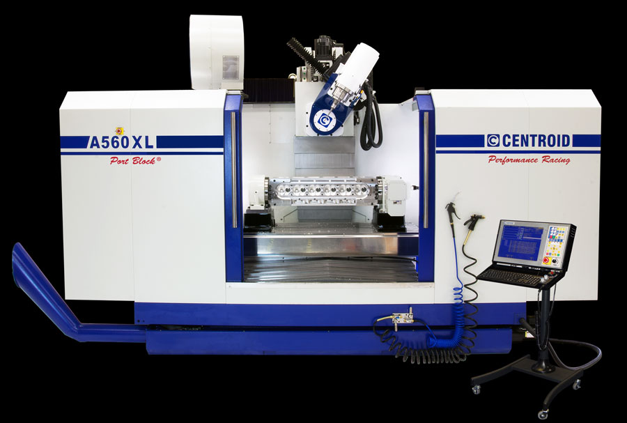 A560 5-Axis CNC Articulating-Head Porting Machine - high
